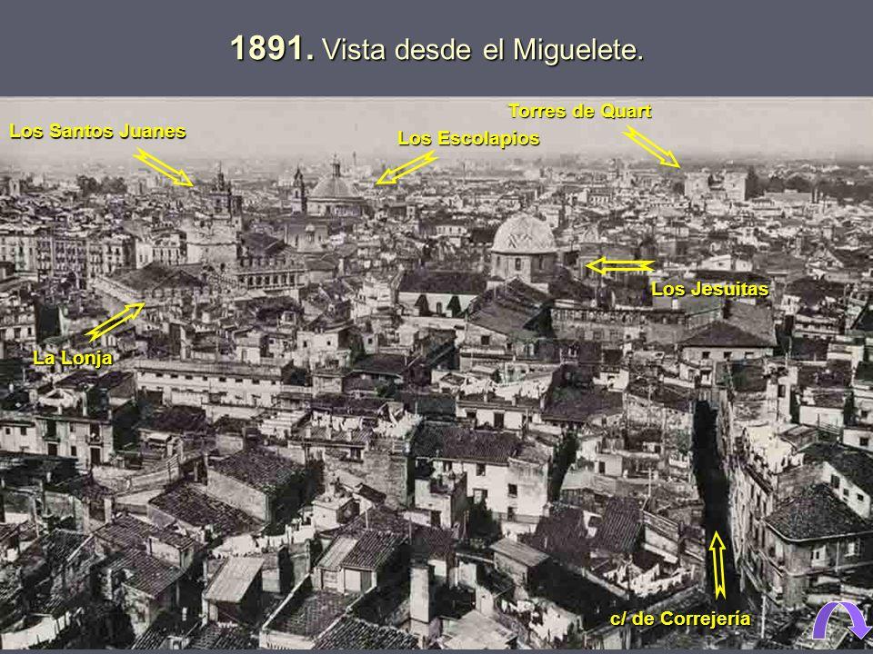 1891. Vista desde el Miguelete.