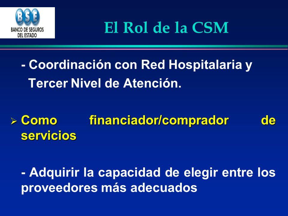 El Rol de la CSM Tercer Nivel de Atención.