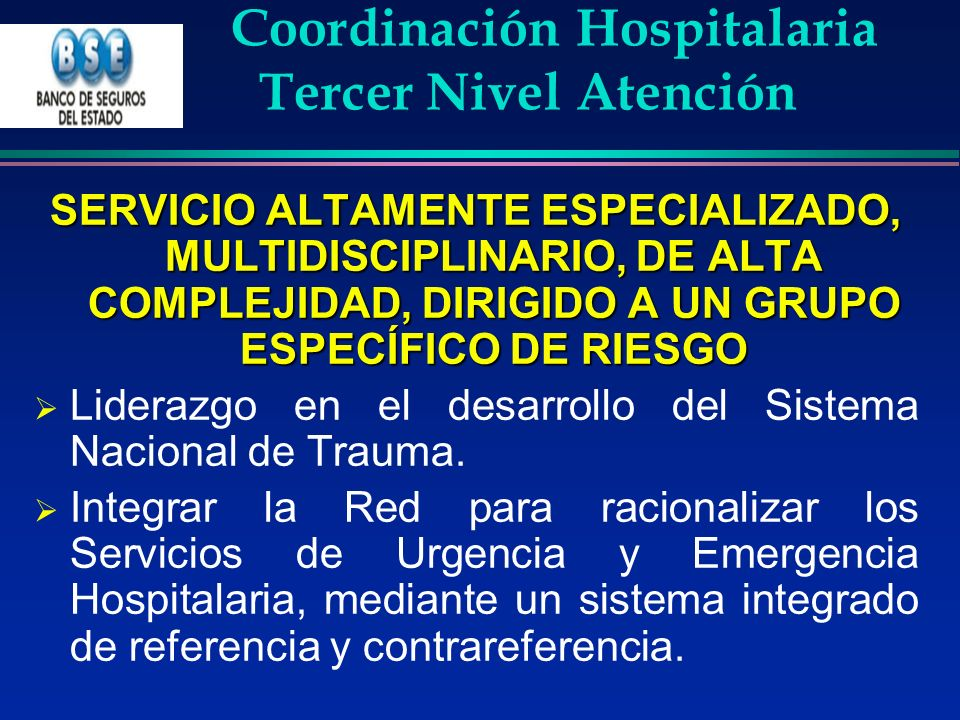Coordinación Hospitalaria Tercer Nivel Atención