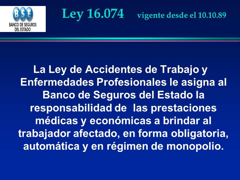 Ley 16.074 vigente desde el 10.10.89
