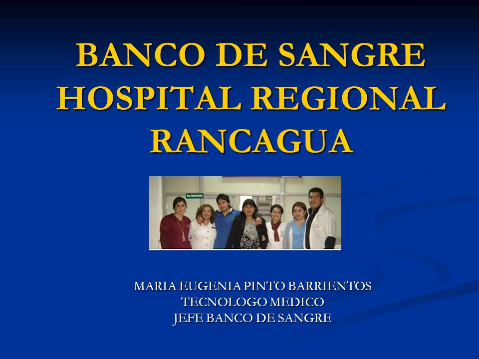 BANCO DE SANGRE HOSPITAL REGIONAL RANCAGUA