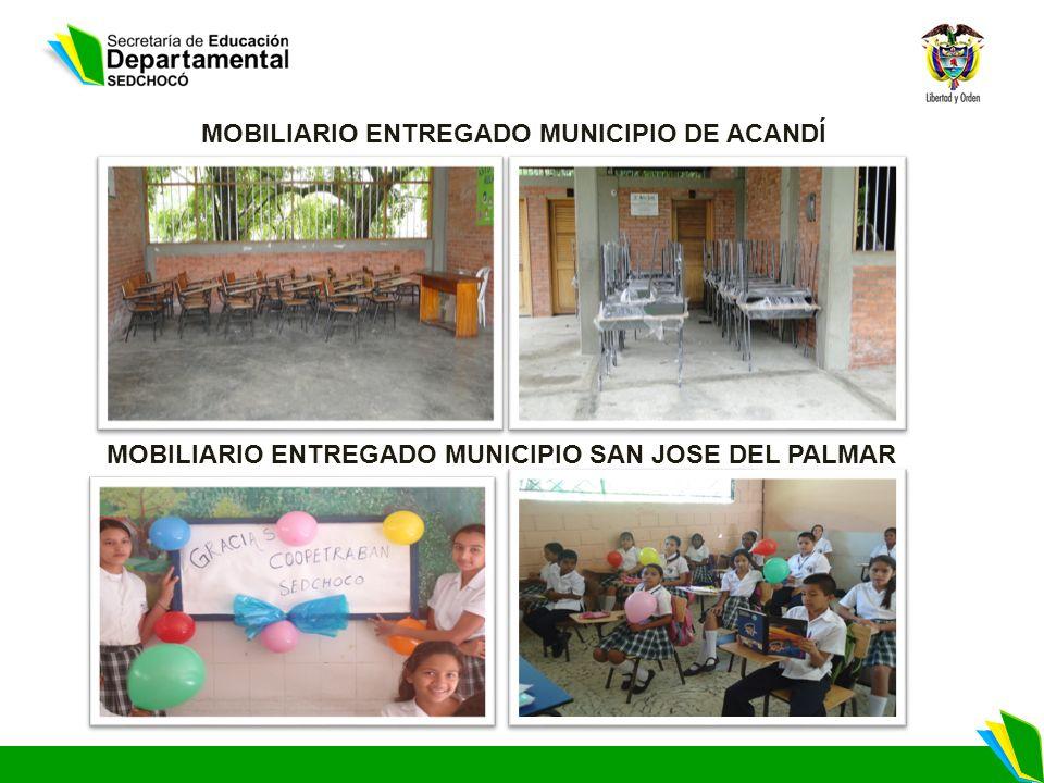 MOBILIARIO ENTREGADO MUNICIPIO DE ACANDÍ