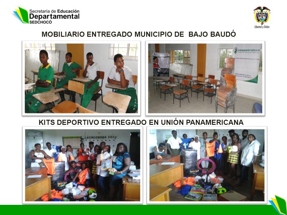 MOBILIARIO ENTREGADO MUNICIPIO DE BAJO BAUDÓ