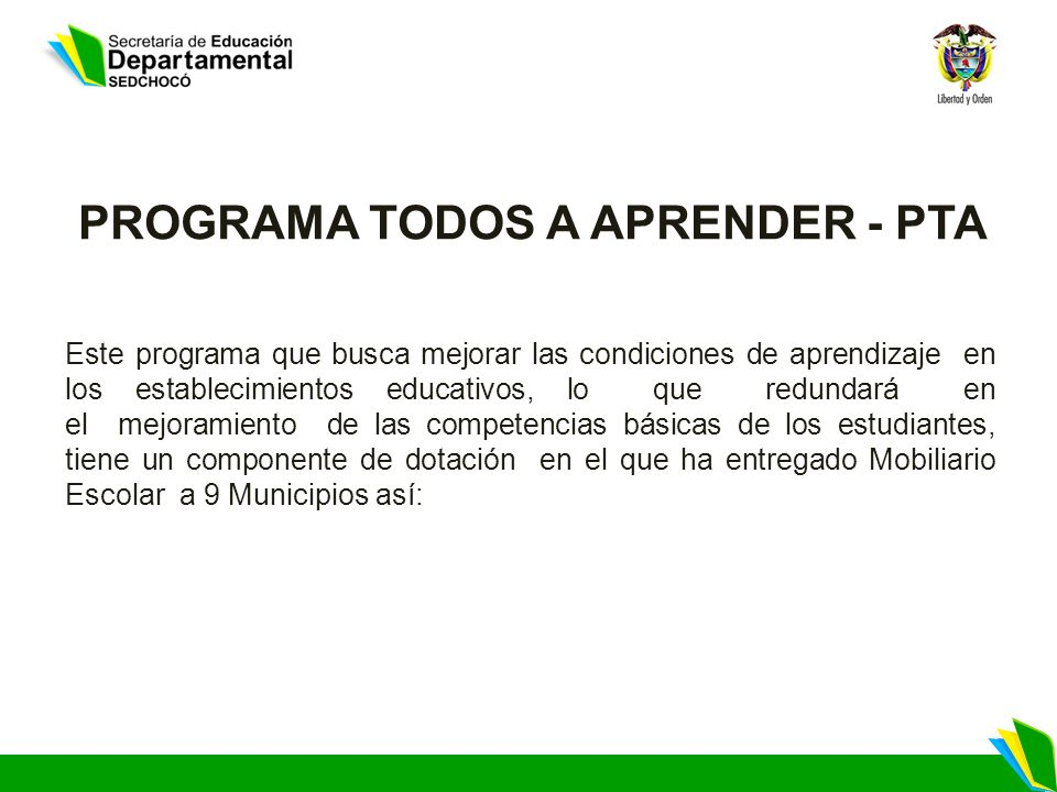 PROGRAMA TODOS A APRENDER - PTA