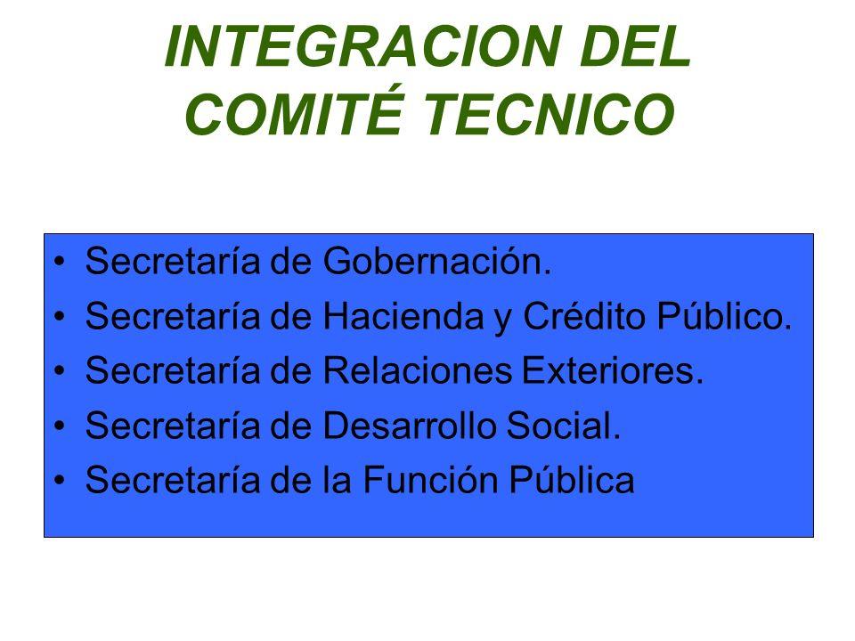 INTEGRACION DEL COMITÉ TECNICO