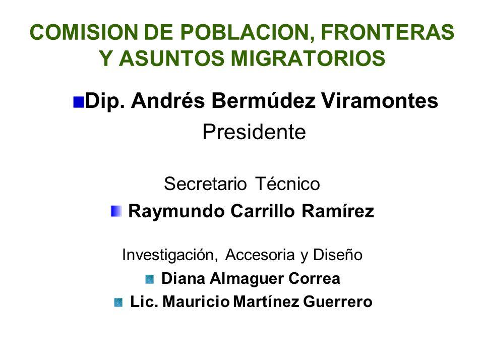 COMISION DE POBLACION, FRONTERAS Y ASUNTOS MIGRATORIOS