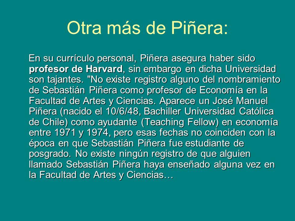 Otra más de Piñera: