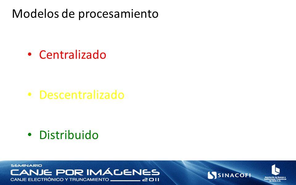 Modelos de procesamiento