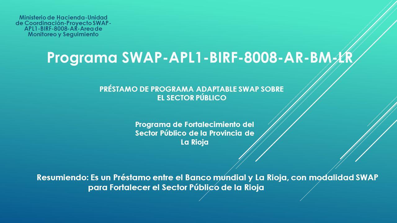 PRÉSTAMO DE PROGRAMA ADAPTABLE SWAP SOBRE EL SECTOR PÚBLICO