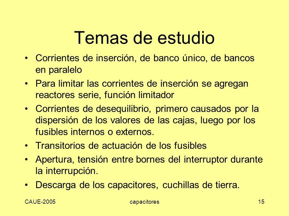 Temas de estudio Corrientes de inserción, de banco único, de bancos en paralelo.