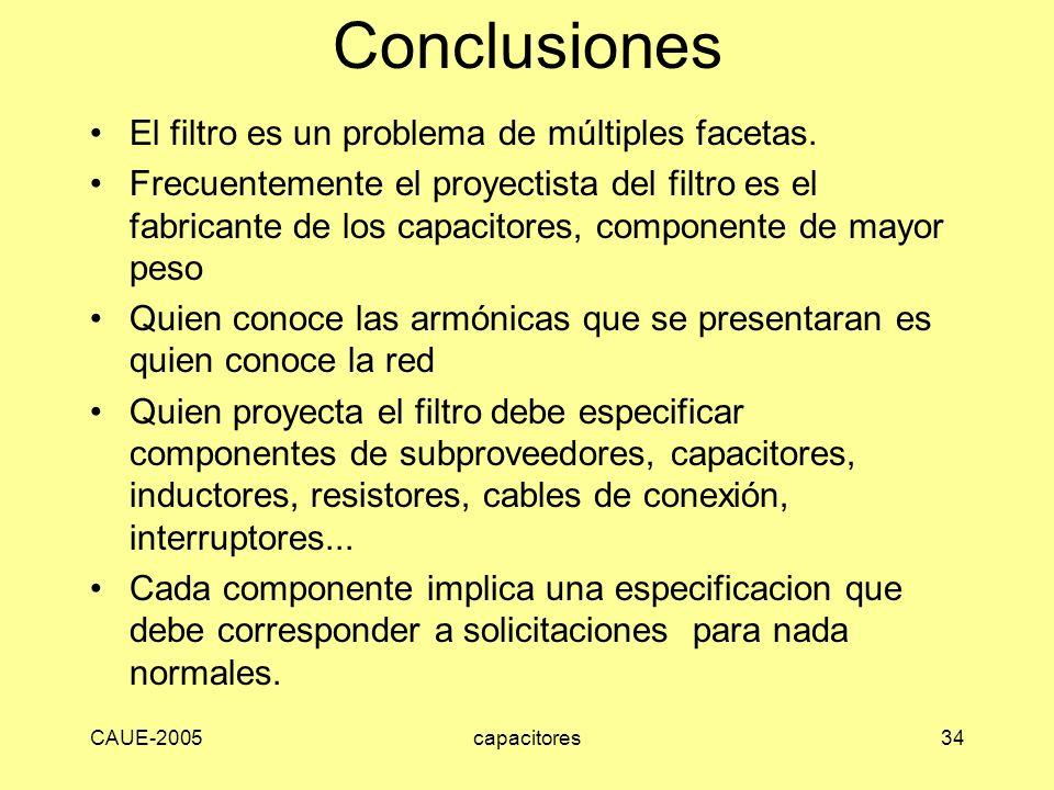 Conclusiones El filtro es un problema de múltiples facetas.