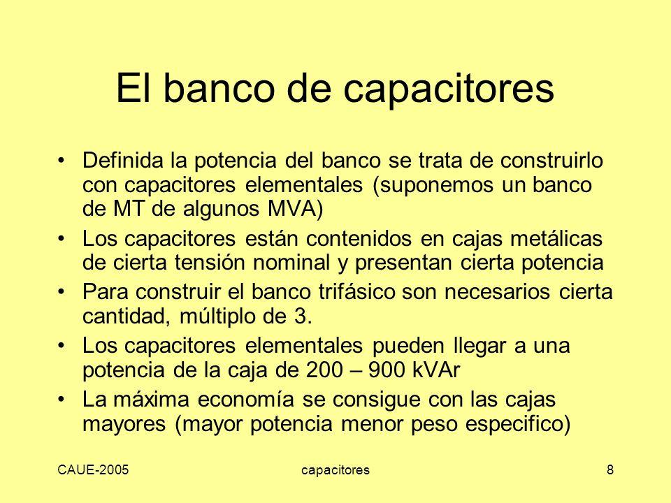 El banco de capacitores
