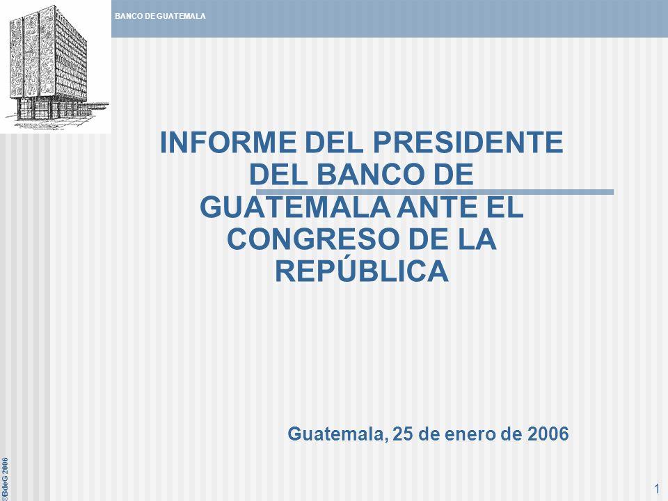 INFORME DEL PRESIDENTE DEL BANCO DE GUATEMALA ANTE EL CONGRESO DE LA REPÚBLICA