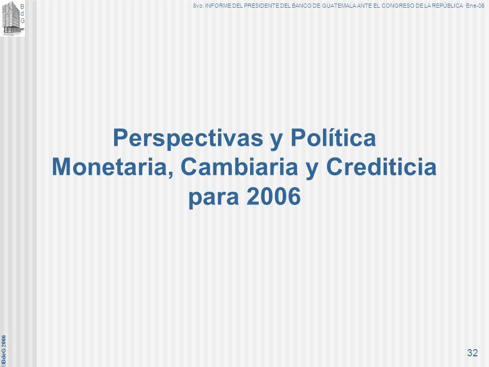 Perspectivas y Política Monetaria, Cambiaria y Crediticia para 2006