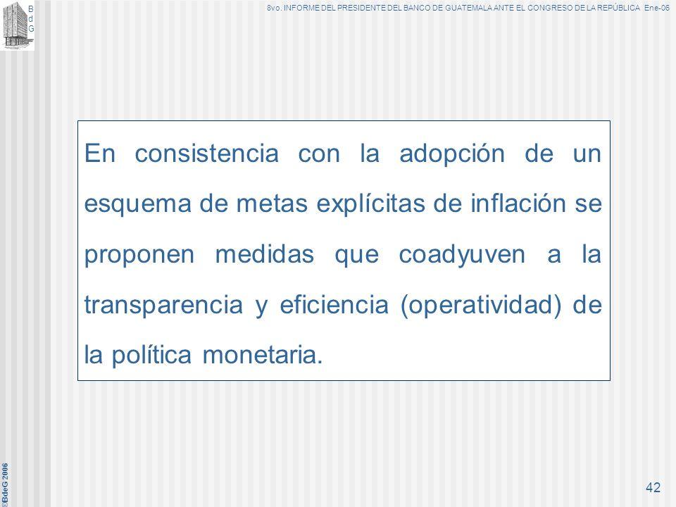 En consistencia con la adopción de un esquema de metas explícitas de inflación se proponen medidas que coadyuven a la transparencia y eficiencia (operatividad) de la política monetaria.