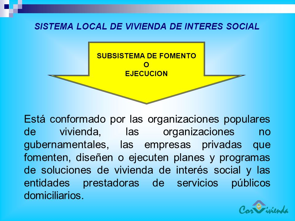 SISTEMA LOCAL DE VIVIENDA DE INTERES SOCIAL