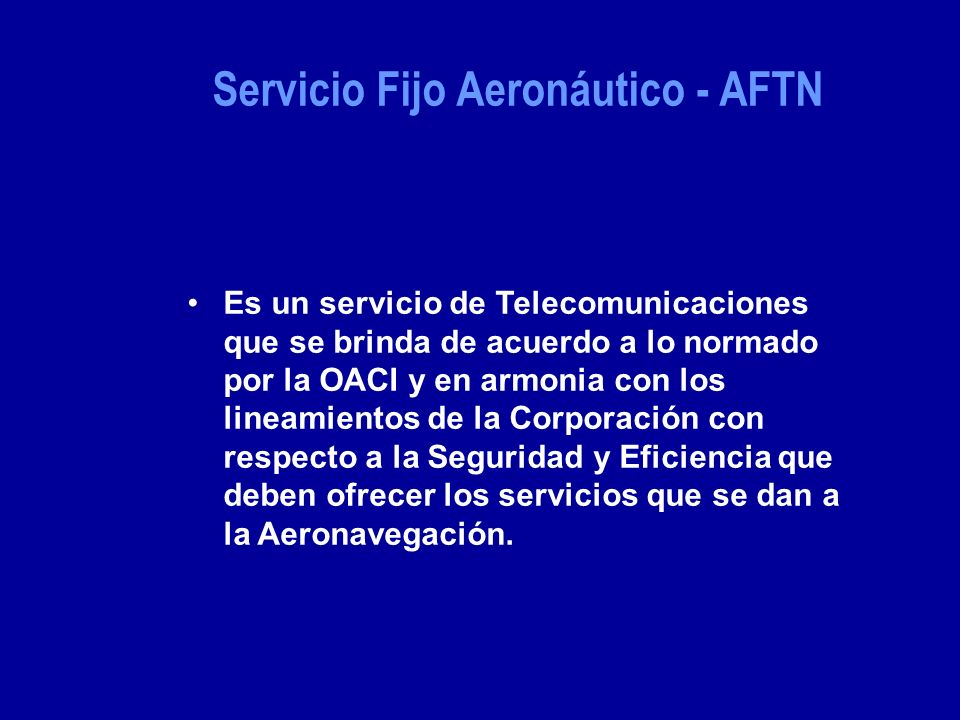 Servicio Fijo Aeronáutico - AFTN