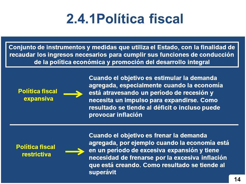 2.4.1Política fiscal