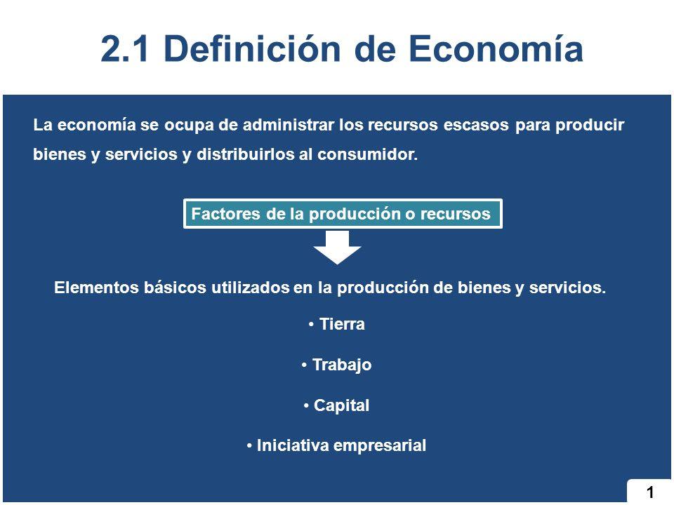 2.1 Definición de Economía