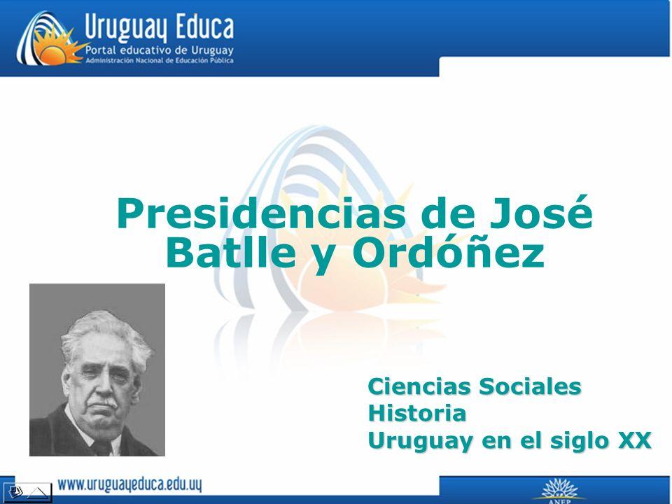 Presidencias de José Batlle y Ordóñez