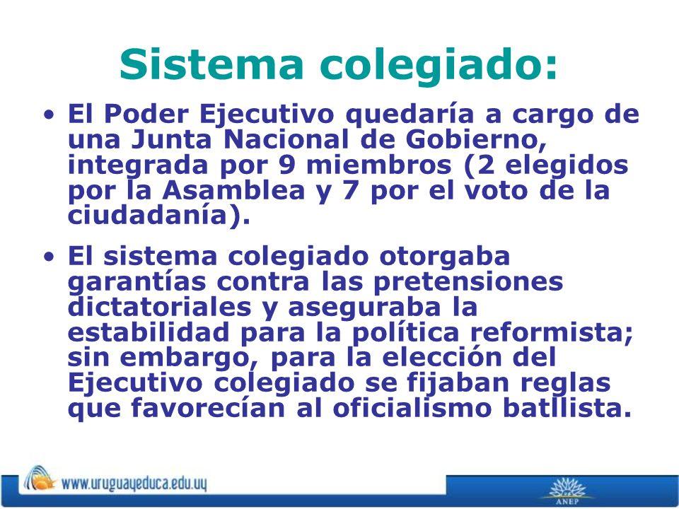 Sistema colegiado: