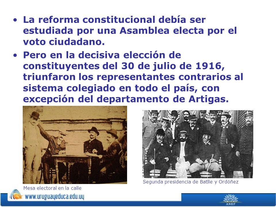 La reforma constitucional debía ser estudiada por una Asamblea electa por el voto ciudadano.