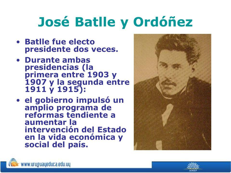 José Batlle y Ordóñez Batlle fue electo presidente dos veces.