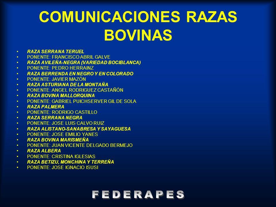 COMUNICACIONES RAZAS BOVINAS
