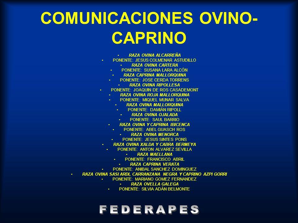 COMUNICACIONES OVINO-CAPRINO