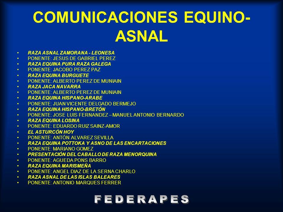 COMUNICACIONES EQUINO-ASNAL