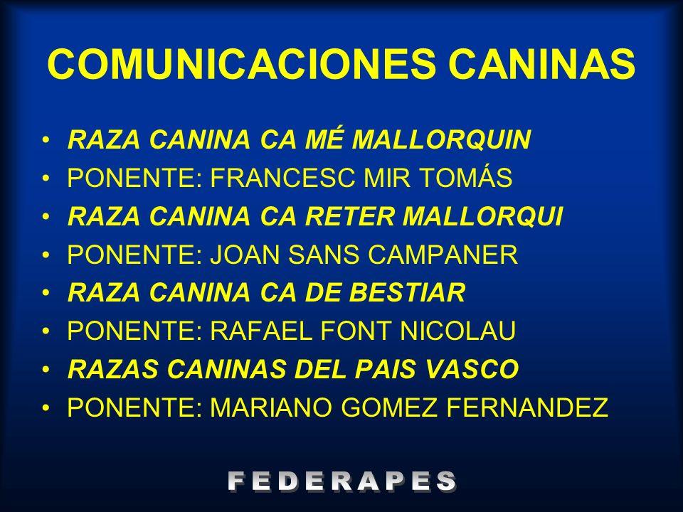 COMUNICACIONES CANINAS