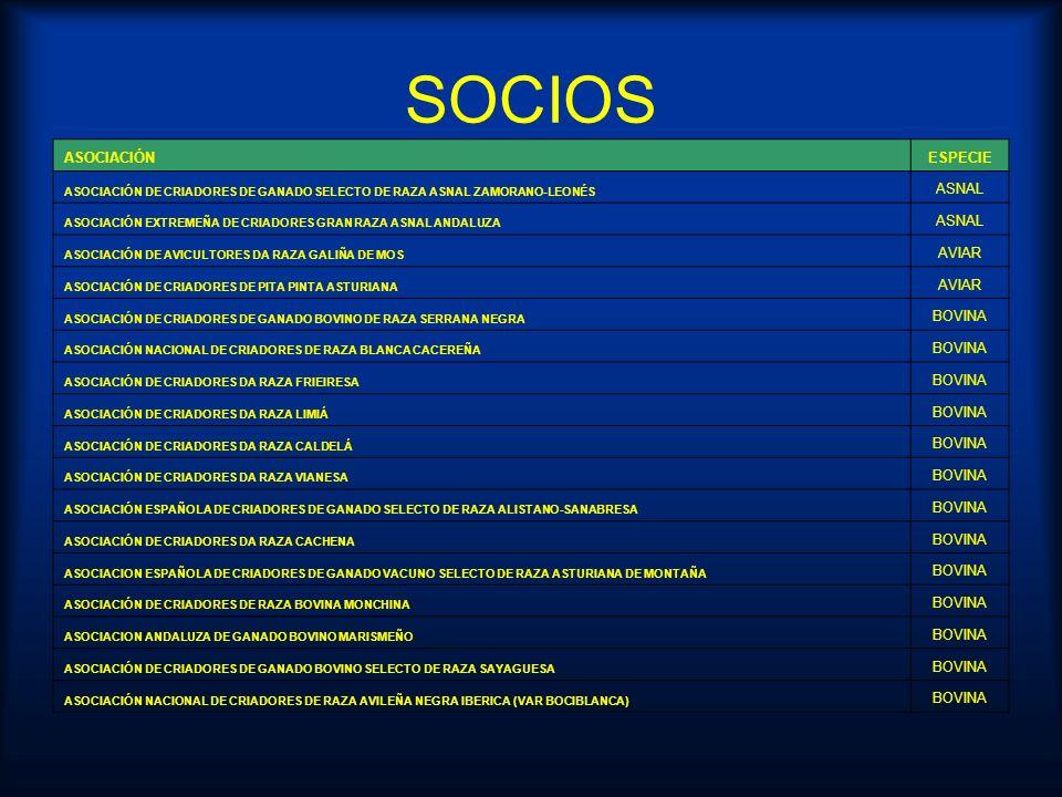 SOCIOS ASOCIACIÓN ESPECIE ASNAL AVIAR BOVINA
