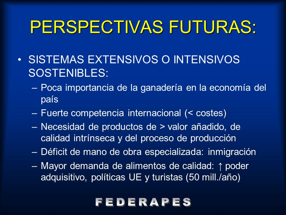 PERSPECTIVAS FUTURAS: