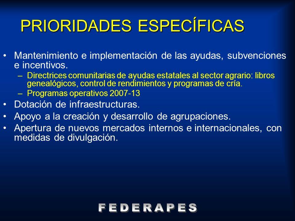 PRIORIDADES ESPECÍFICAS