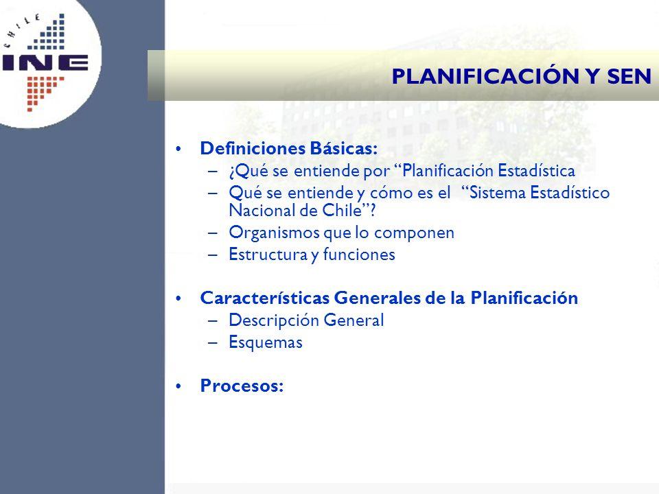 PLANIFICACIÓN Y SEN Definiciones Básicas: