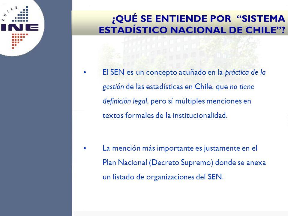 ¿QUÉ SE ENTIENDE POR SISTEMA ESTADÍSTICO NACIONAL DE CHILE