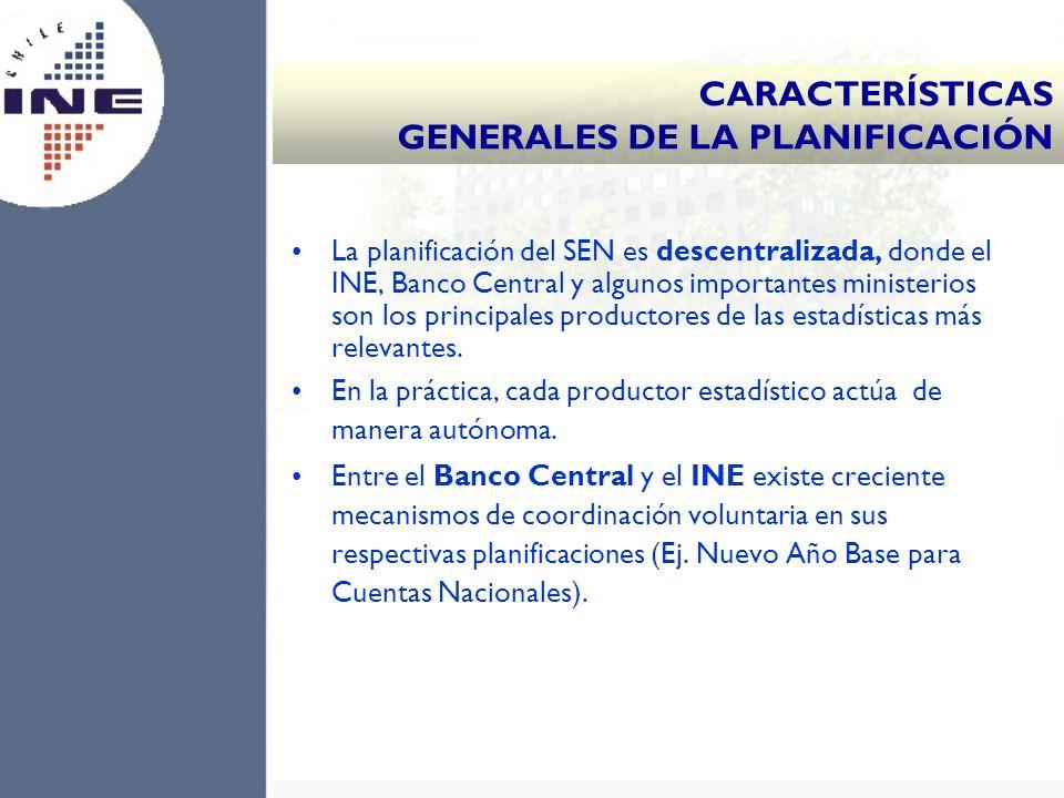 CARACTERÍSTICAS GENERALES DE LA PLANIFICACIÓN