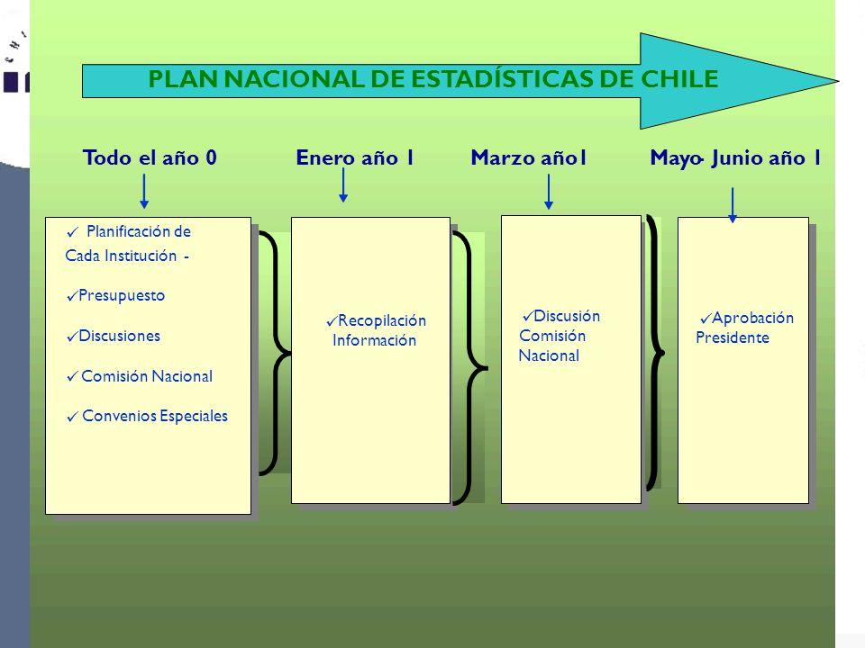 PLAN NACIONAL DE ESTADÍSTICAS DE CHILE
