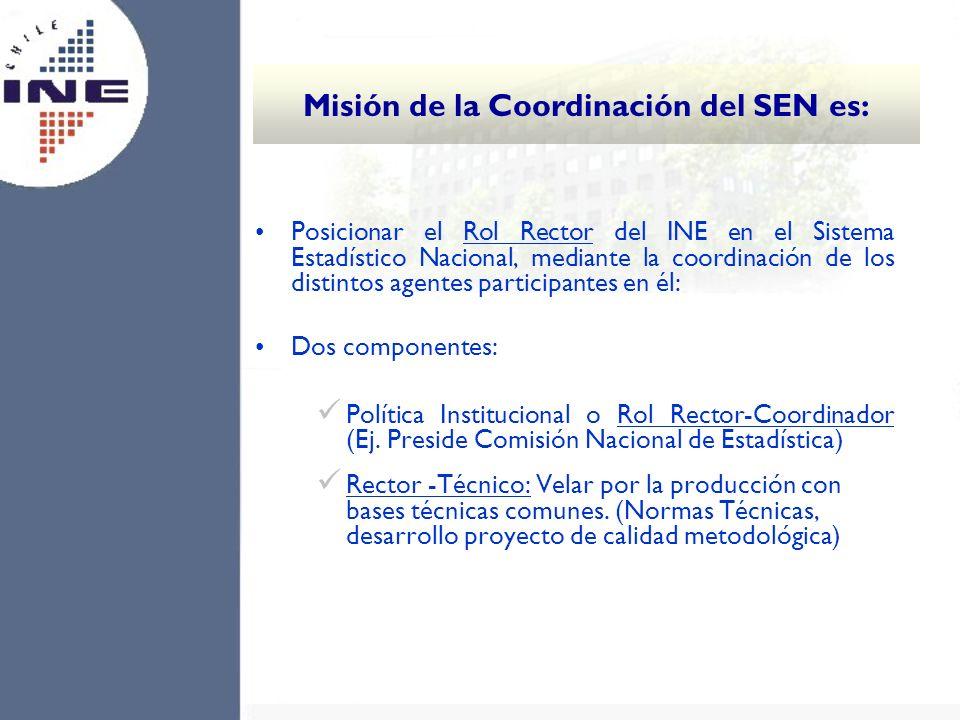 Misión de la Coordinación del SEN es: