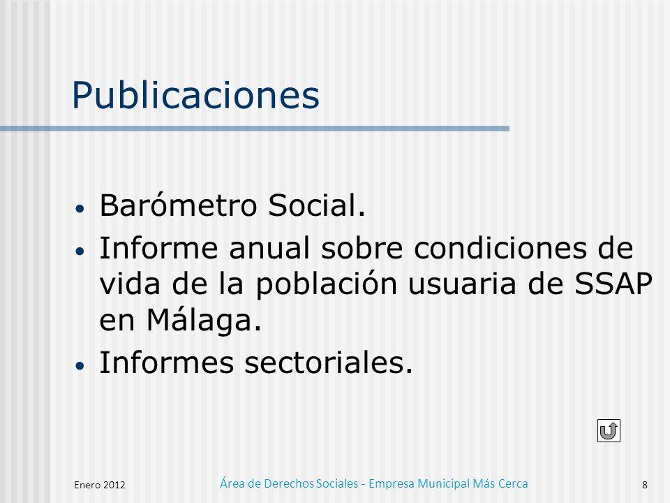 Área de Derechos Sociales - Empresa Municipal Más Cerca