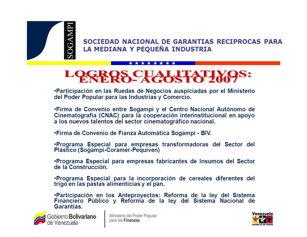 LOGROS CUALITATIVOS: ENERO- AGOSTO 2007