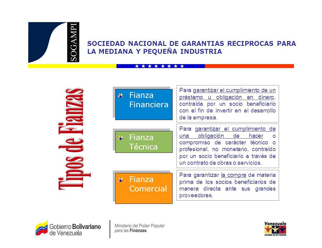 Tipos de Fianzas Fianza Financiera Fianza Técnica Fianza Comercial
