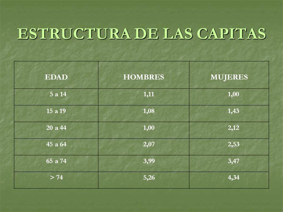 ESTRUCTURA DE LAS CAPITAS