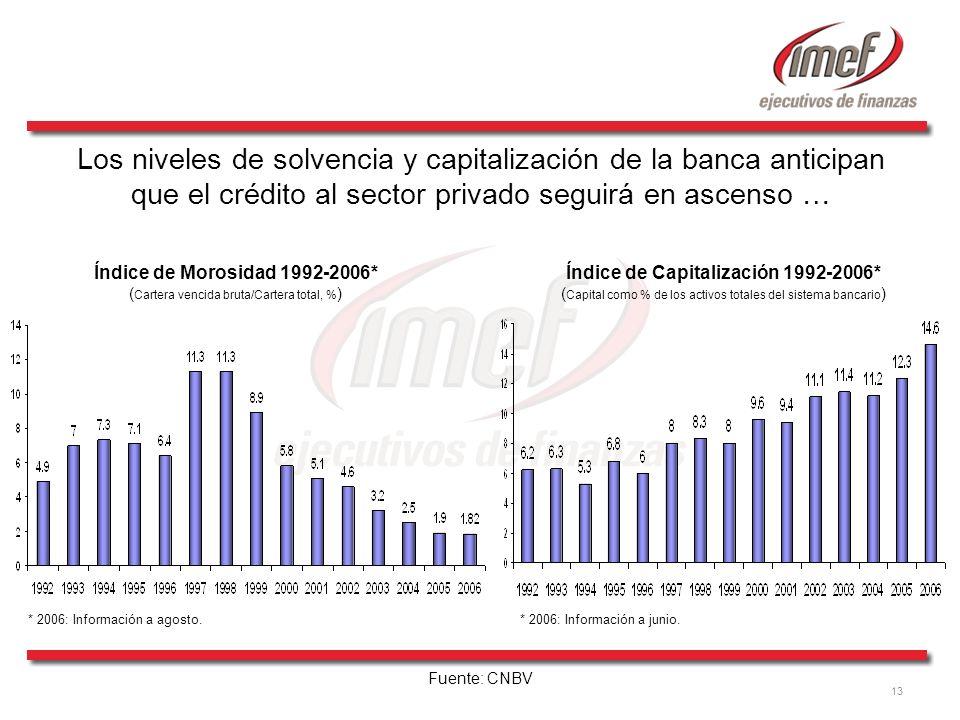 Índice de Capitalización 1992-2006*
