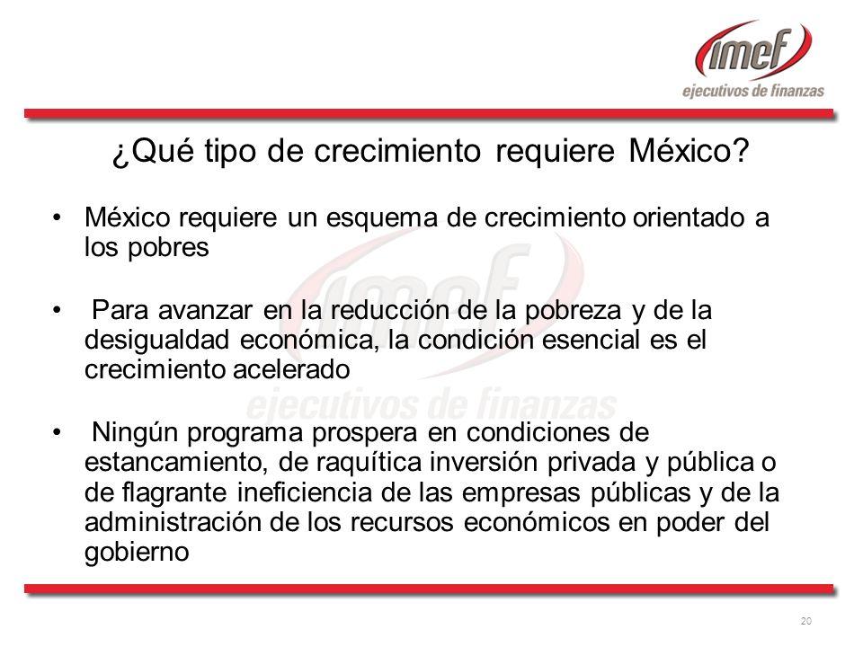 ¿Qué tipo de crecimiento requiere México