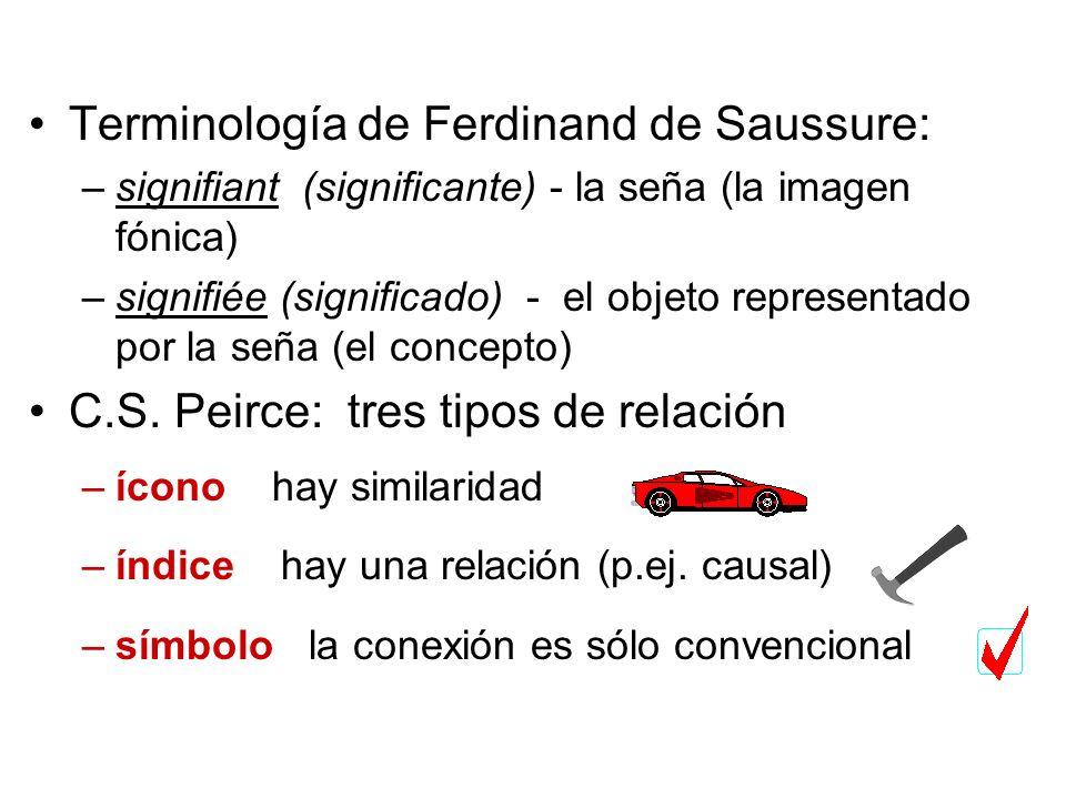 Terminología de Ferdinand de Saussure: