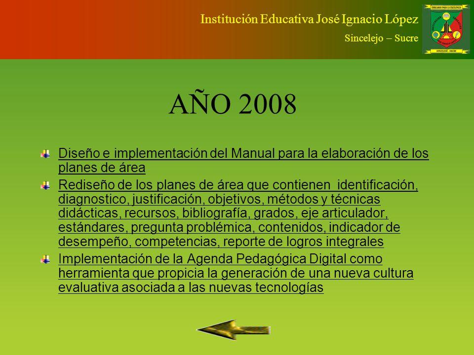 AÑO 2008 Institución Educativa José Ignacio López