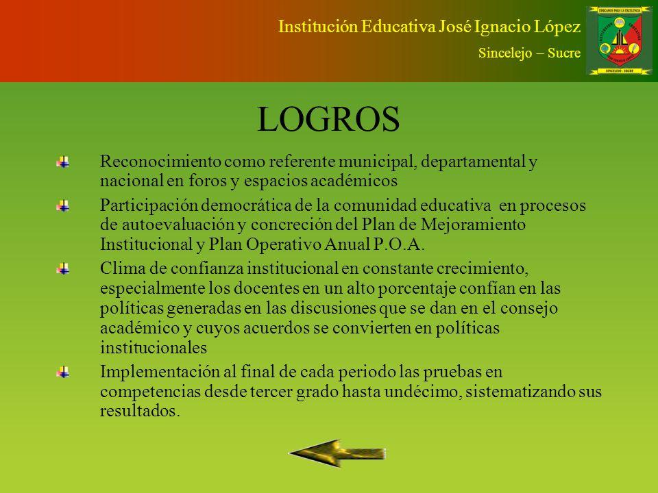 LOGROS Institución Educativa José Ignacio López