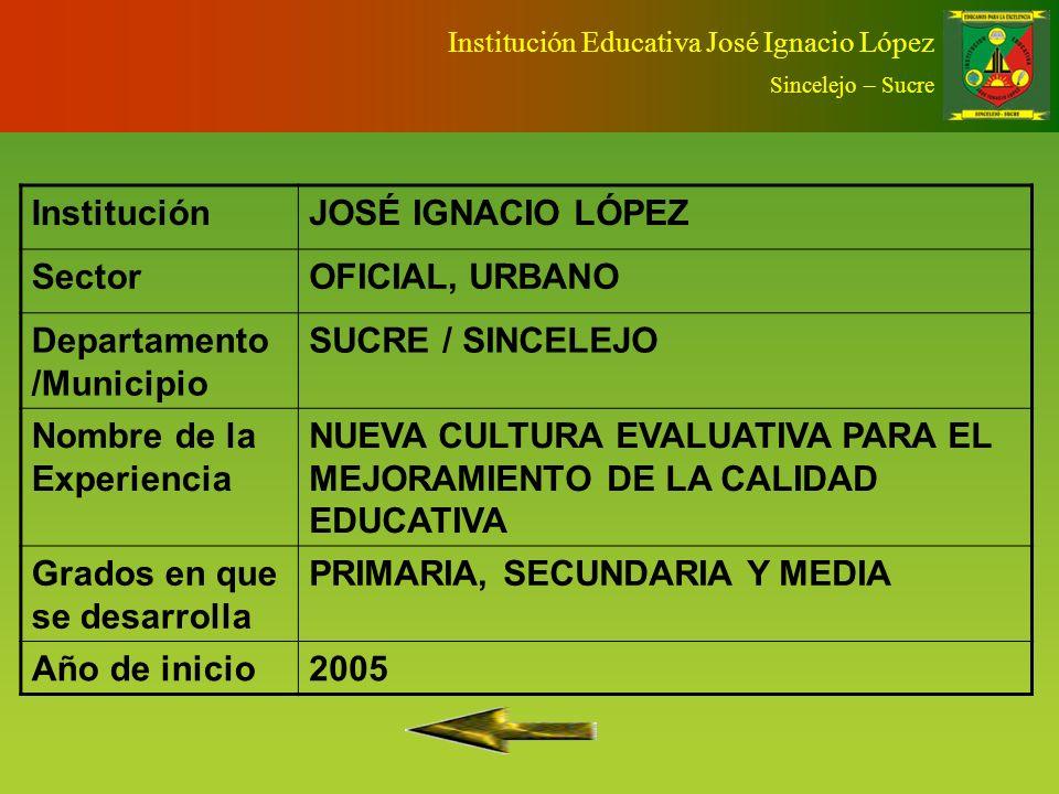 Departamento /Municipio SUCRE / SINCELEJO Nombre de la Experiencia