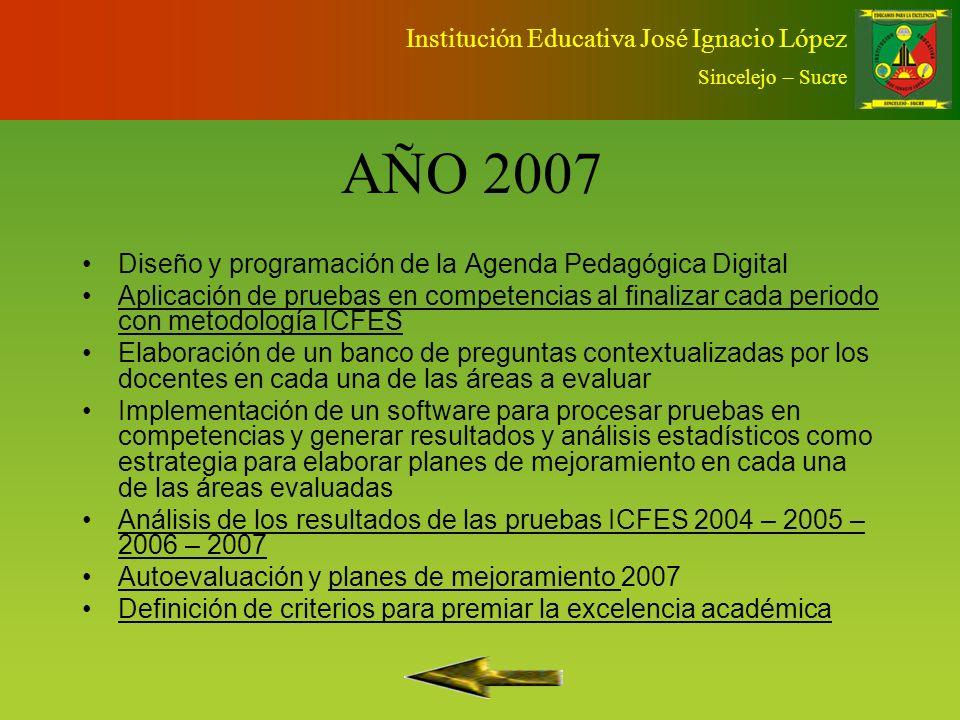 AÑO 2007 Institución Educativa José Ignacio López